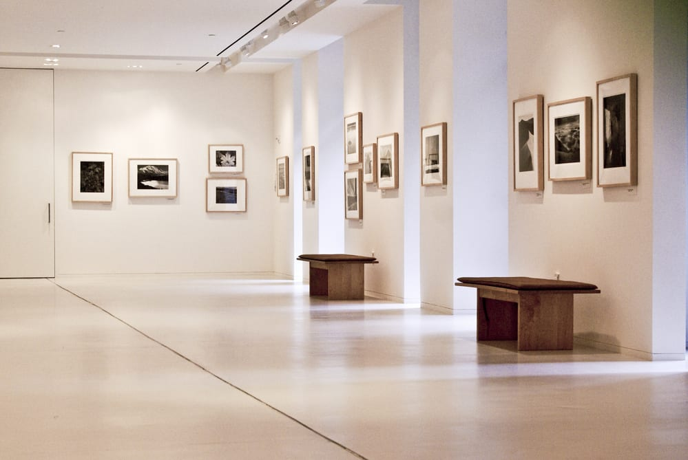 Interior of a modern art gallery